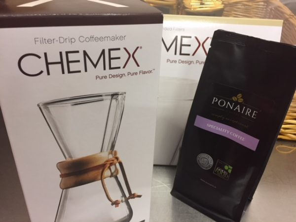 3 cup Chemex with Filters and Yirgacheffe coffee
