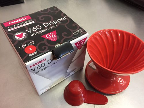 1-4 Cup Red Ceramic Hario Dripper