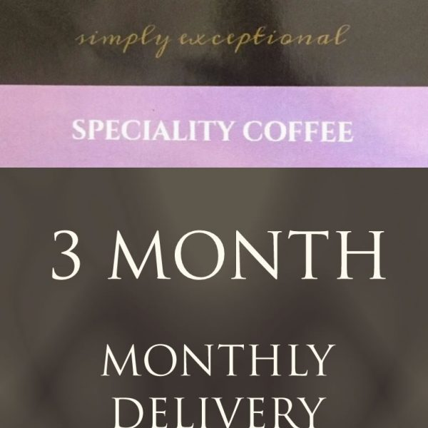 Ponaire Speciality coffee - 3 month coffee subscription delivered monthly