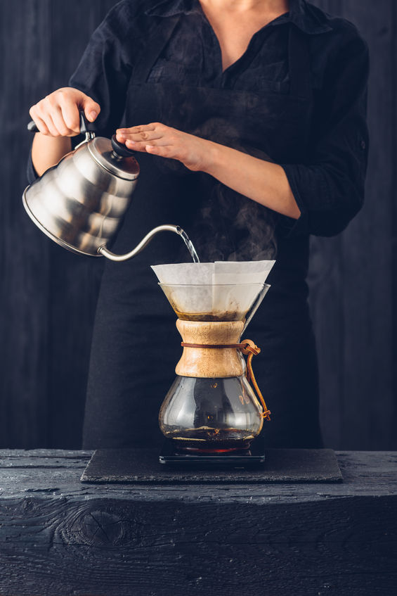 Kettle with the Chemex