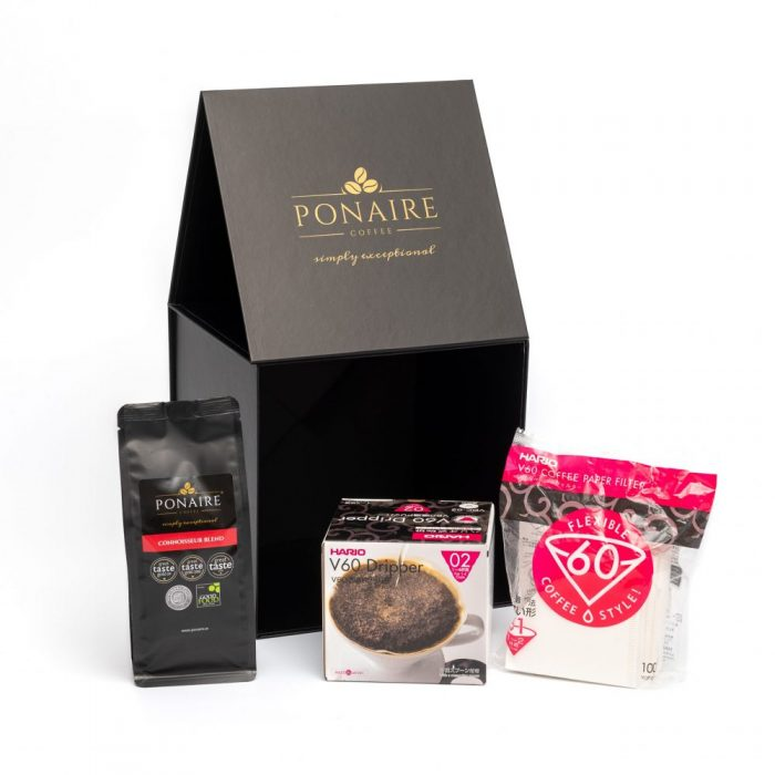 Hario V60 Dripper Whole Bean Coffee Gift Set