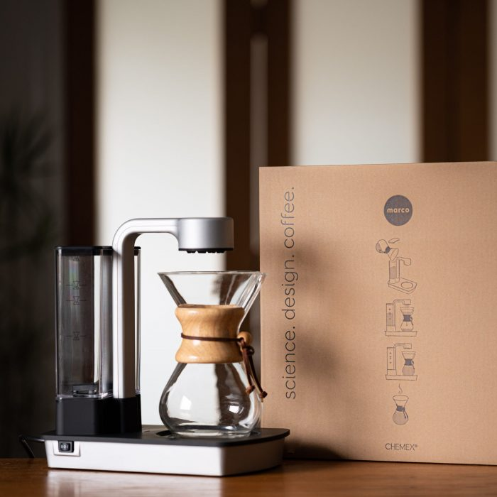Ottomatic coffeemaker with box