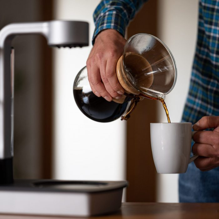 Ottomatic coffeemaker in action