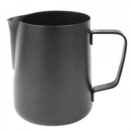 Olympia 340ml Black Non Stick Milk Frothing Jug